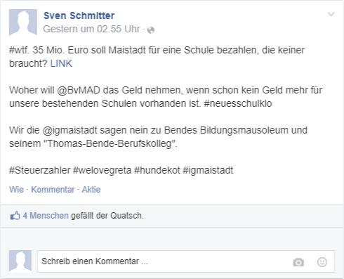 Stadt Maistadt - Tweet Bürgermeister